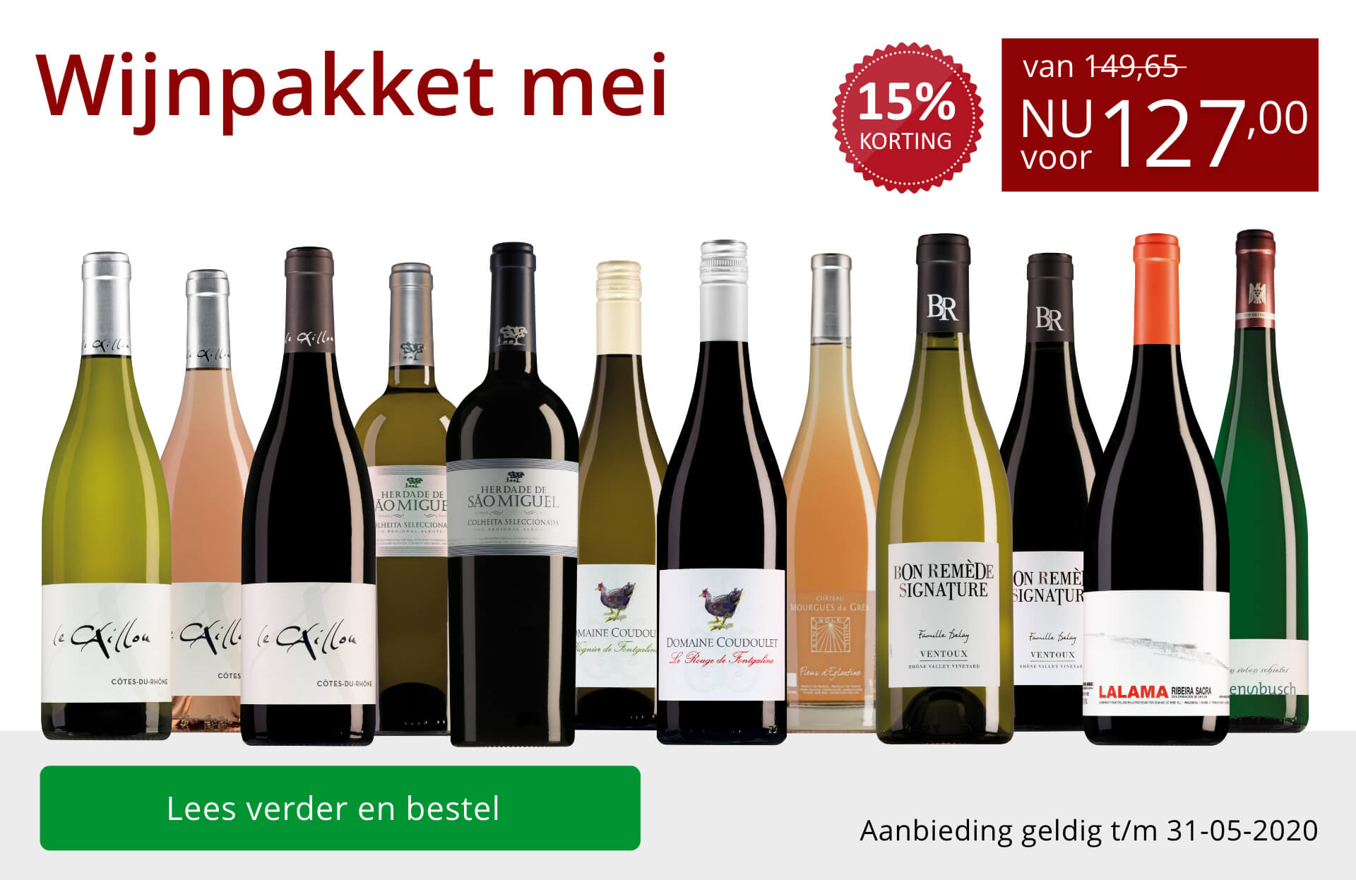 Wijnpakket wijnbericht mei 2020 (127,00) - rood