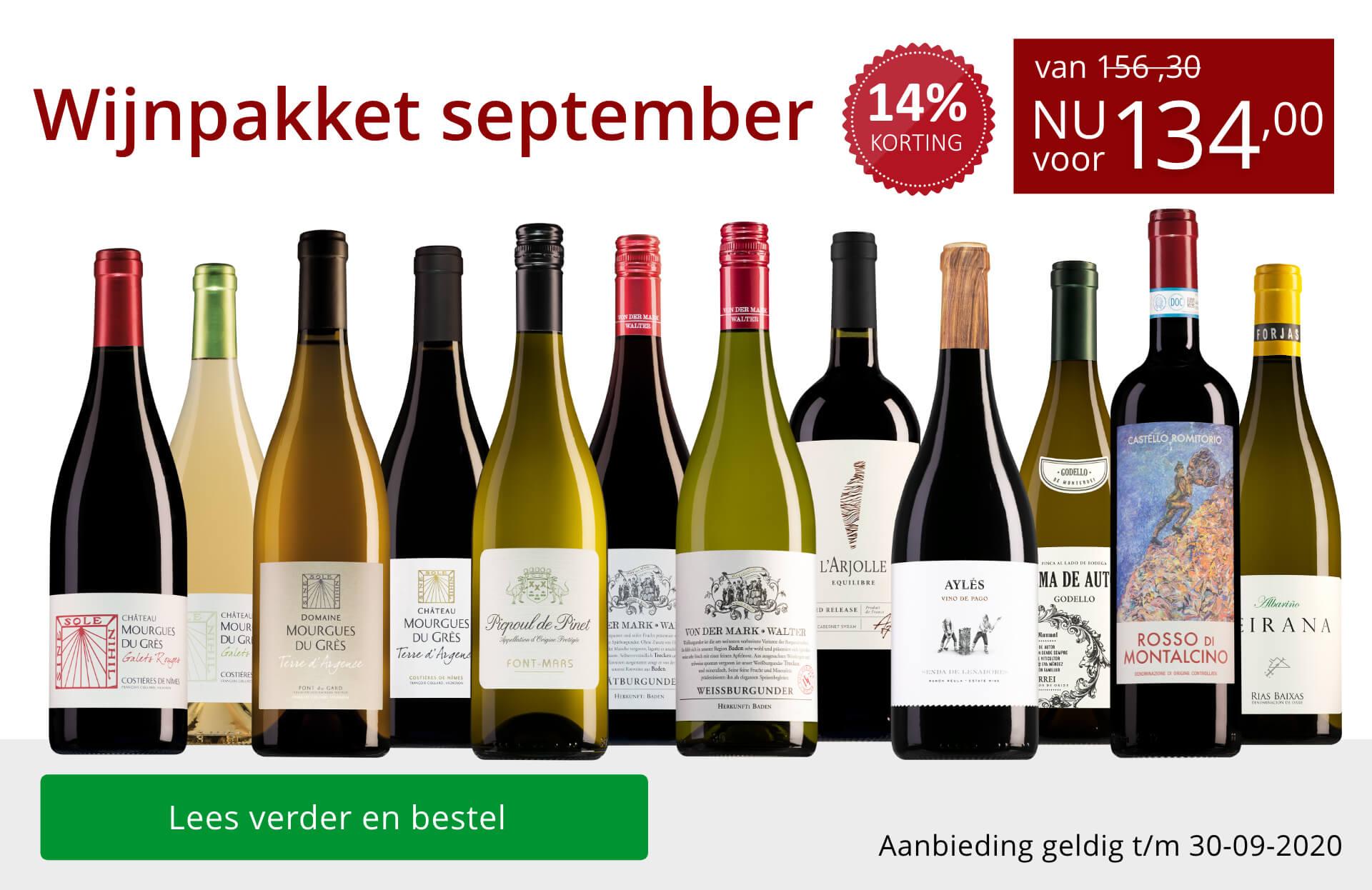 Wijnpakket wijnbericht september 2020 (134,00) - rood